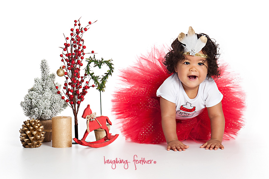 Red Christmas tutu toddler