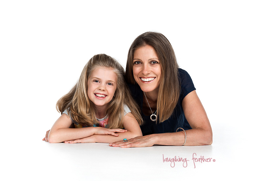 studio portraits Mother and Daughter